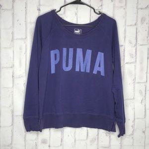Puma Dry Cell Women's Purple Lightweight Sweatshirt Sz L
